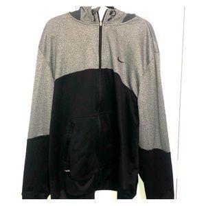 Hooded zip up sweatshirt